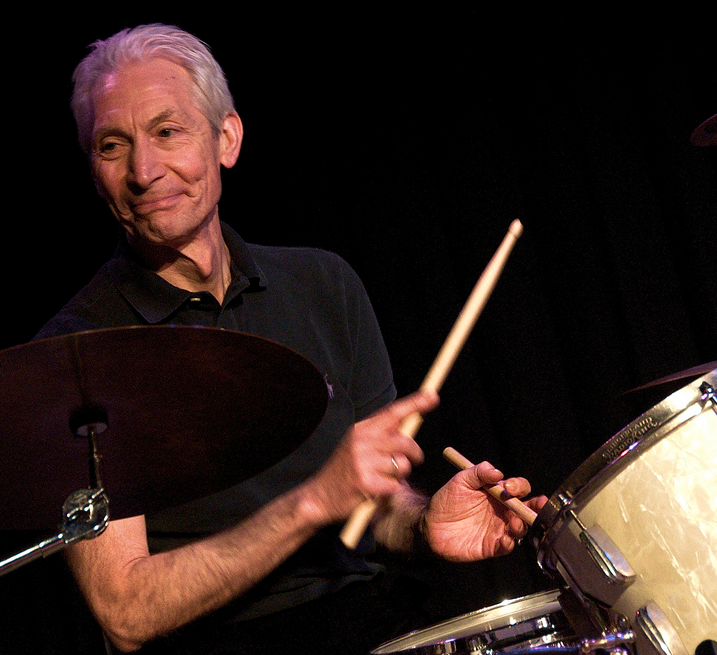 Charlie Watts lays into some jazz as Stones take a break