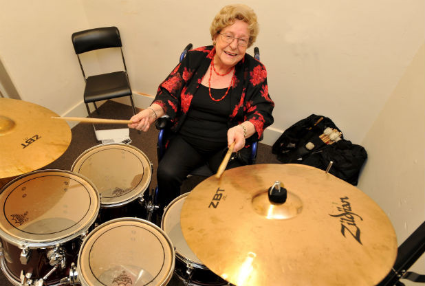 You're never too old to learn to play drums (even at 100!)